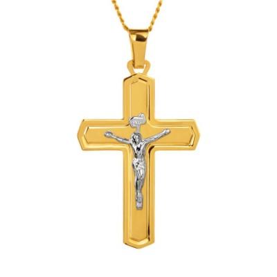 złoty krzyżyk dla mężczyzny