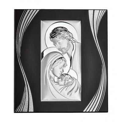 Obrazek srebrny na ozdobnym panelu