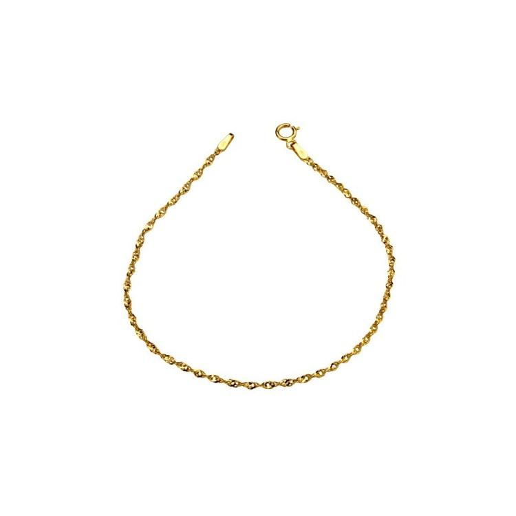 Kolczyki złote z cyrkoniami Au585