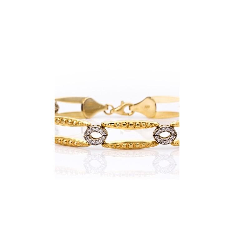 Kolczyki złote z cyrkoniami. Au585.