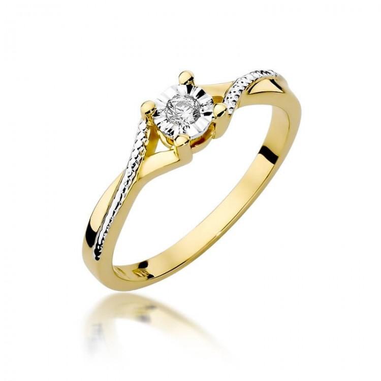 Fantastyczny pierścionek zaręczynowy z brylantem
