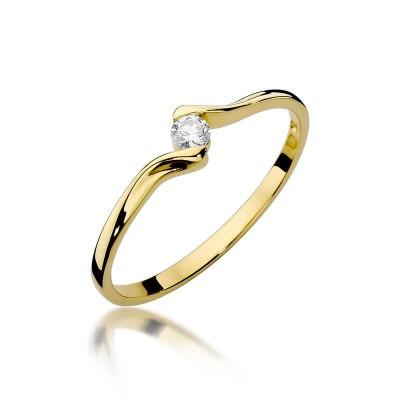 Elegancki pierścionek z brylantem na zaręczyny