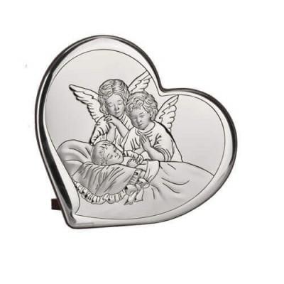 Obrazek srebrny Aniołki