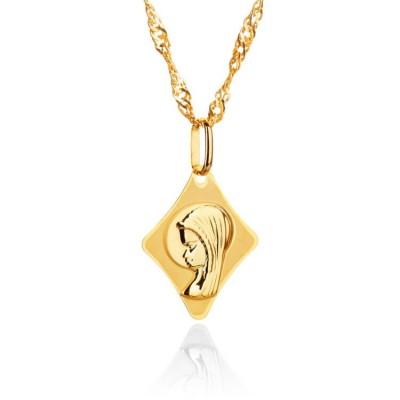 Złoty medalik Matka Boska Fatimska