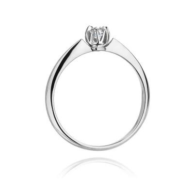 pierścionek zaręczynowy z diamentem SB-W-134 0,10ct