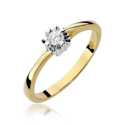 Pierścionek z diamentem - tanio