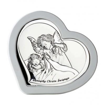 Obrazek srebrny z Aniołkiem w ramce