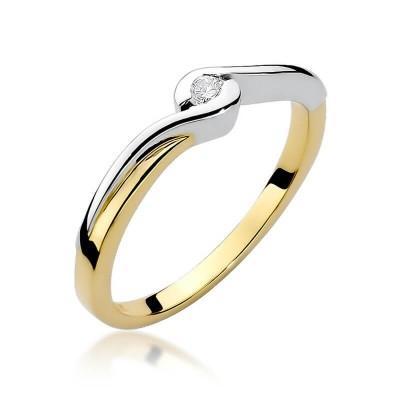 Pierścionek zaręczynowy z małym oczkiem