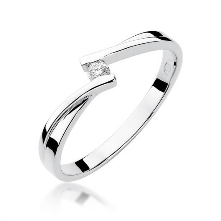 Pierścionek zaręczynowy białe złoto