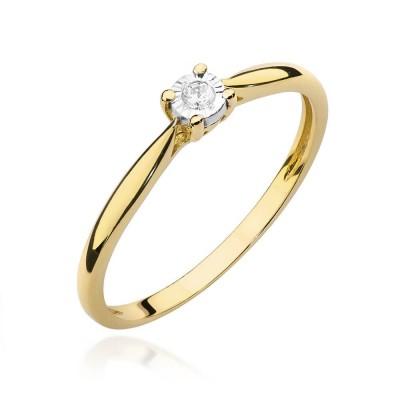 Elegancki pierścionek zaręczynowy