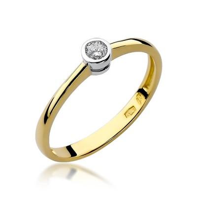 Pierścionek z brylantem złoto tanio na prezent