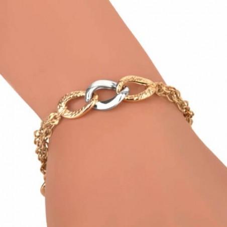 Pierścionek złoty z brylantami. Au585.