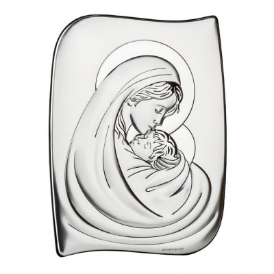 Obrazek srebrny - Niepokalana Niewiasta z Dzieciątkiem