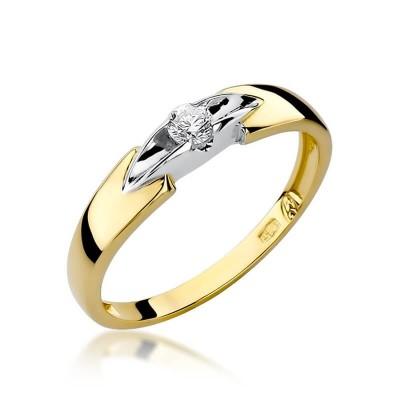 Pierścionek zaręczynowy z białym brylantem