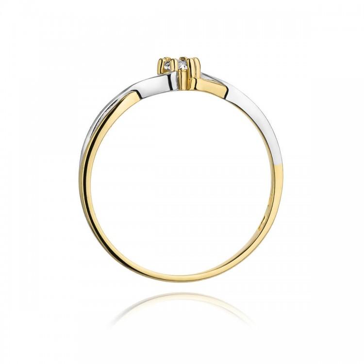 Sygnet z białego złota z onyksem. Au585.