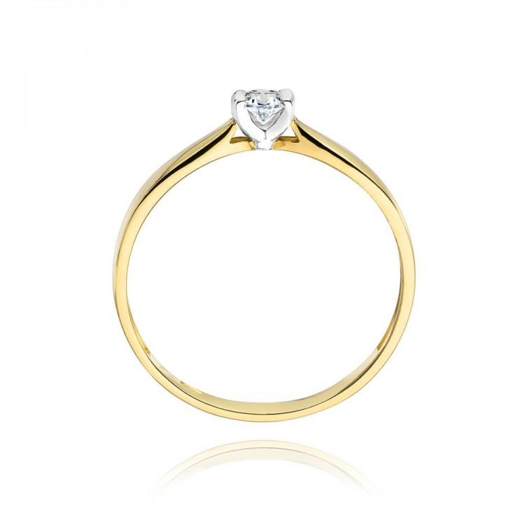 Złote obrączki ślubne z diamentami. Próba.585