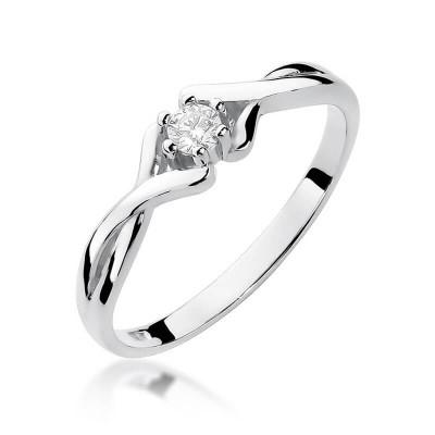 Pierścionek zaręczynowy z brylantem 0,10ct