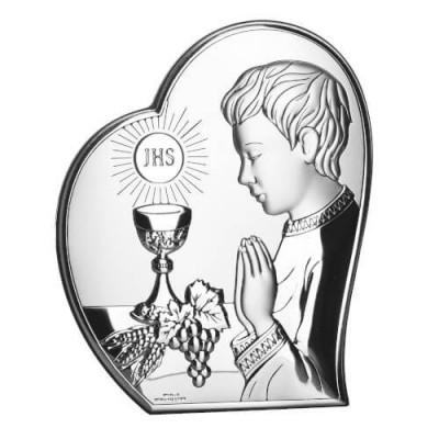 Obrazek srebrny Prezent na Komunię