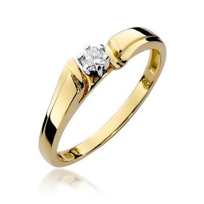 Pierścionek zaręczynowy z brylantem – dedykacja gratis