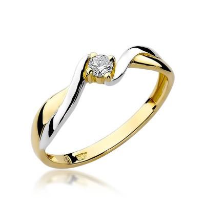 Pierścionek złoty z diamentem niskie ceny