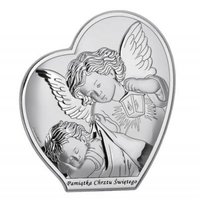Pamiątka Chrztu - Obrazek z Aniołkiem