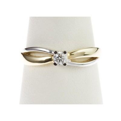 Pierścionek złoty z diamentem