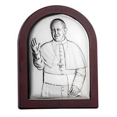 Obrazek srebrny Papież Franciszek