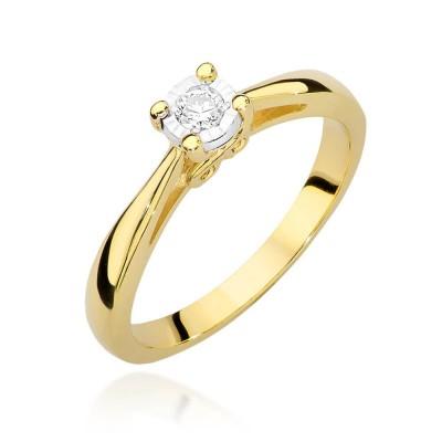 Elegancki pierścionek zaręczynowy z brylantem