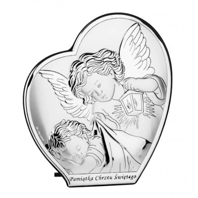 Srebrny-obrazek-Serce-Aniołek