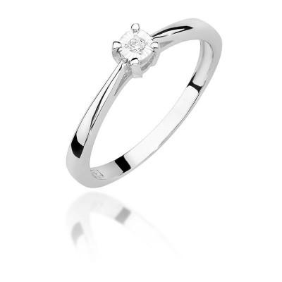 Idealny pierścionek na zaręczyny - białe złoto