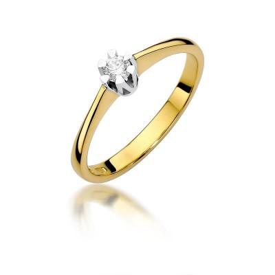 Pierścionek zaręczynowy z brylantem – tanio