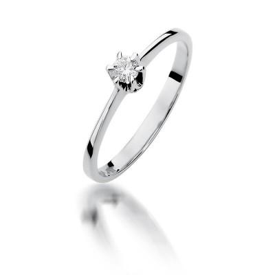 Pierścionek zaręczynowy z brylantem - piękny prezent