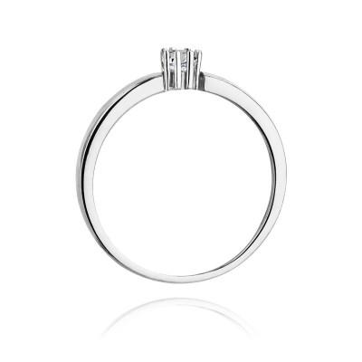 Pierścionek zaręczynowy z brylantem złoto białe SB-W-128