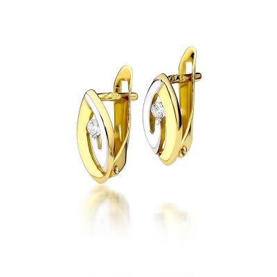 Biżuteria złota kolczyki brylanty angielskie