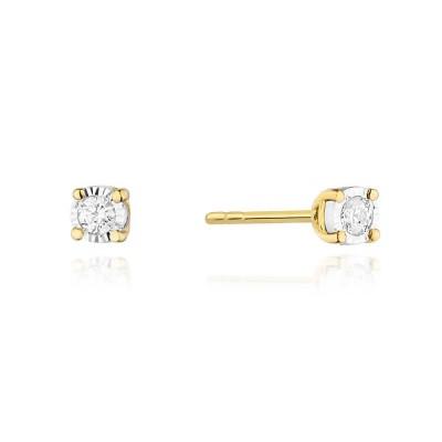 Biżuteria złota kolczyki brylantami