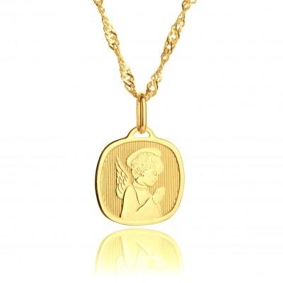 Medalik z Aniołem Stróżem