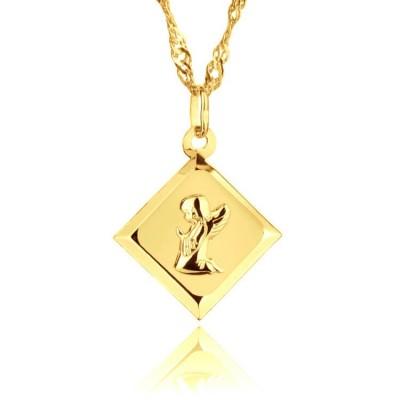 Medalik złoty z Aniołem Stróżem