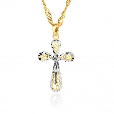 Krzyżyk złoty z dedykacją