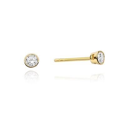 Biżuteria złota kolczyki z brylantami wkręty
