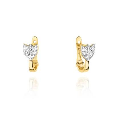 Biżuteria złota kolczyki diamenty angielskie