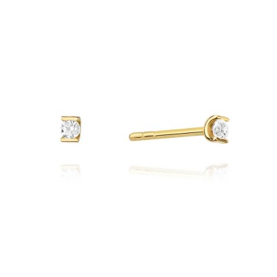 Kolczyki złote z diamentami 585