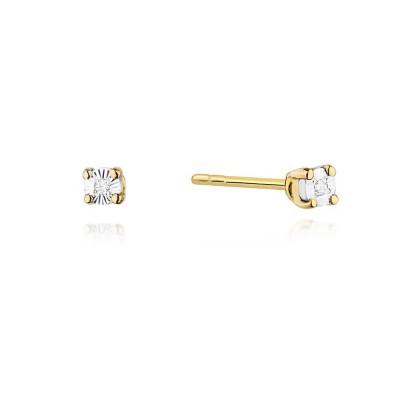 Kolczyki złote diamenty