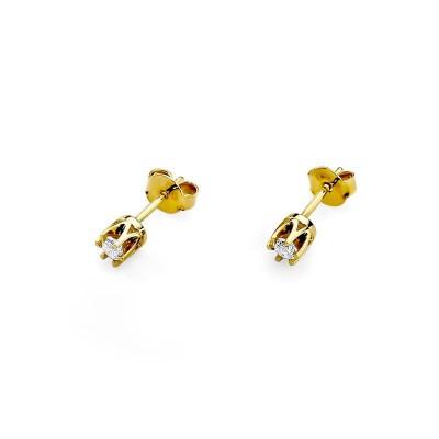 Złote kolczyki z diamentami SB-KO-32 0,16ct