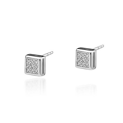 Kolczyki z diamentami kwadrat