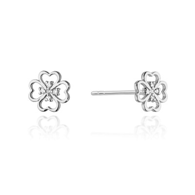 Kolczyki kwiat diamentu