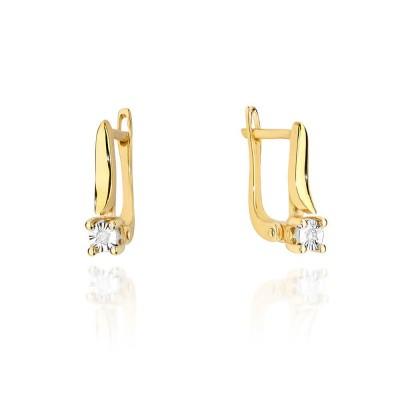 Biżuteria złota kolczyki z brylantami angielskie
