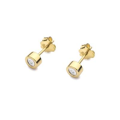 Złote kolczyki z diamentami - upominek na każdą okazję