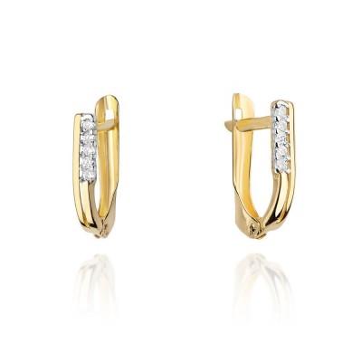 Diamenty złote kolczyki