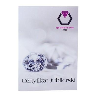 Do każdych kolczyków certyfikat jubilerski