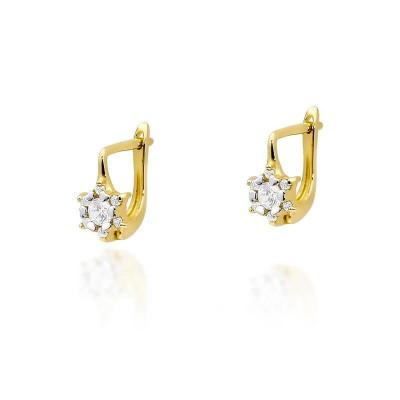 Biżuteria złota kolczyki z brylantami